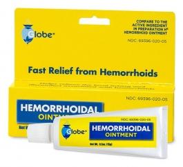 Globe Hemorrhoidal Ointment  - 0.5 oz