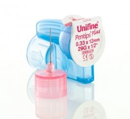 """Unifine Pentips Plus 29 Gauge, 1/2"""" Needle- 100ct"""