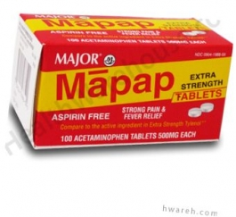 Mapap (Acetaminophen) 500mg - 100 Tablets