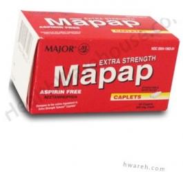 Mapap (Acetaminophen) 500mg - 24 Caplets