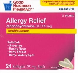 GNP® Diphenhydramine HCL 25mg Softgels 24ct