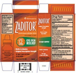 Zaditor Opthalmicalmic Solution