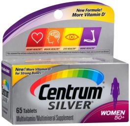 Centrum Silver Women 50+, Multivitamin Tablets - 65ct