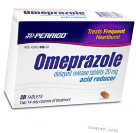 Omeprazole Delayed Release 20mg (Generic Prilosec OTC) - 28 Tablet Box