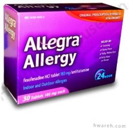 Allegra Allergy 24-Hour 180mg- 30 Tablets