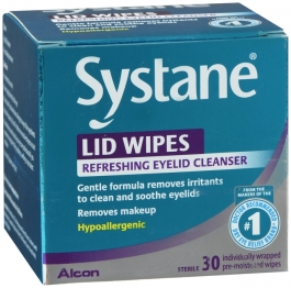 Systane Lid Wipes Eyelid Cleansing Wipes- 30ct