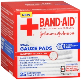 Band-aid First Aid Small Gauze Pad, 2x2 Inch 25ct