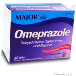 Omeprazole 20mg Delayed Release - 42 Tablet Box
