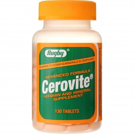 Rugby Cerovite Advanced Formula Vitamin & Mineral Supplement Tablets, 130 Ct