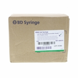 "BD Syringe 21 Gauge, 3cc, 1"" Needle - 100 Count"