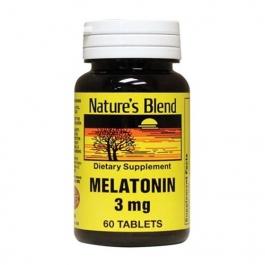 Nature's Blend Melatonin 3 mg Tablets 60ct