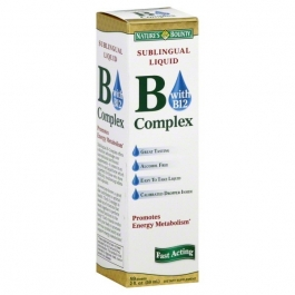 Nature's Bounty B Complex with B12 Sublingual Liquid 2 fl oz