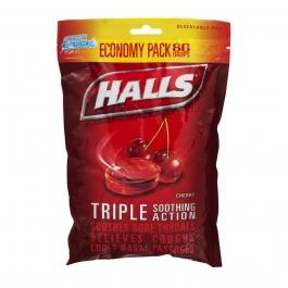 Halls Cherry Cough Drops - 80 Count
