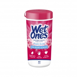 Wet Ones Antibacterial Hand Wipes Canister, Fresh Scent, 40 ct