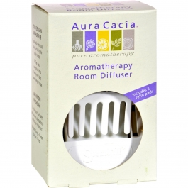 Aura Cacia Aromatherapy Room Diffuser 1 unit & 5 refill pads