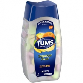 Tums Ultra Tropical Fruit Tablets, 160ct