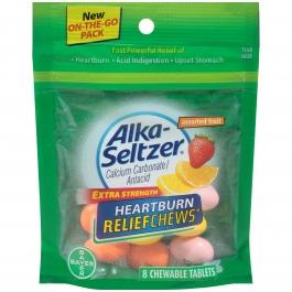 Alka-Seltzer Extra Strength Heartburn Relief Chews Assorted Fruit 8ct
