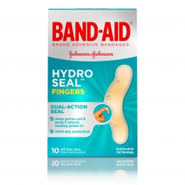 Band-Aid Brand Hydro Seal Adhesive Bandages for Fingers, 10ct