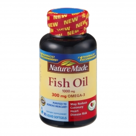 Nature Made Fish Oil 1000mg Omega-3 300mg Softgels 90ct