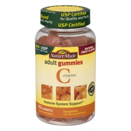 Nature Made Vitamin C Tangerine Flavor Adult Gummies 80ct