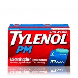 Tylenol PM Extra Strength Caplets, 500 mg, 150ct