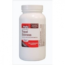 Meclizine HCL 25mg Chew Tablets- 1000ct