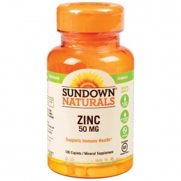 Sundown Naturals Zinc Gluconate 50mg Tablets 100ct