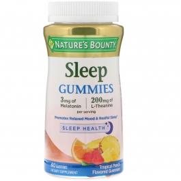 bounty gummies nature sleep theanine melatonin 3mg 200mg complex 60ct iherb tropical