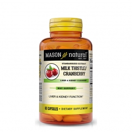 Mason Naturals Milk Thistle & Cranberry Liver Cleanse Capsules, 60 Ct