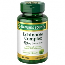 Nature's Bounty Echinacea Complex 450mg 100 Capsules