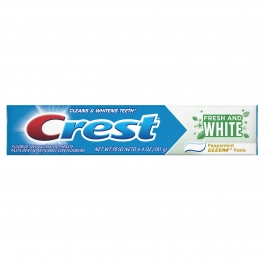 Crest Fresh And White Peppermint Gleem Toothpaste 6.4oz