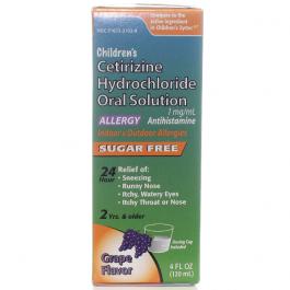 Children's Cetirizine Hydrochloride Solution Grape Flavor, 4oz