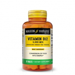 Mason Natural Vitamin B-12 5000mcg Sublingual Tablets 30ct