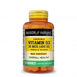 Mason Natural Vitamin D 400 Iu Chewable Tablets, Vanilla Flavor 100ct
