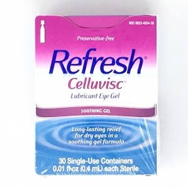 Refresh Celluvisc Lubricant Eye Drops - Gel (0.01 fl oz) - 30 Single Use Containers New packaging!