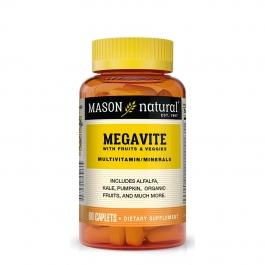 Mason Natural Megavite Fruits & Veggies Multivitamin, Caplets, 60ct