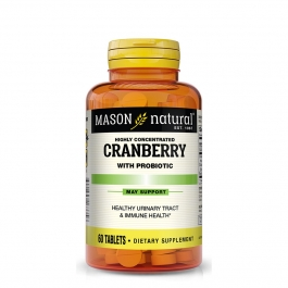 Mason Natural Highly Concentrated Cranberry With Probiotic Tablets - 60ct