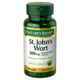 Nature's Bounty St. John's Wort Extract 300 mg Capsules,  100ct