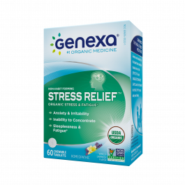 Genexa Homeopathic Stress & Anxiety Relief Tablets, 60 Ct