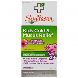 Similasan Kids Cold & Mucus Relief Grape Flavor Syrup - 4.0 oz