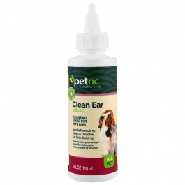 Petnc Natural Care Clean Ear Liquid For All Pets 4 Fluid Oz. Cat Or Dog