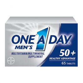 One A Day Men's 50+ Advantage Complete Multivitamin/Multimineral Supplement Tablets- 65ct