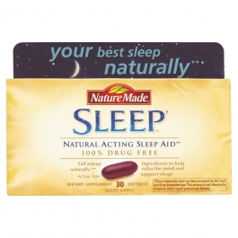 Nature Made Sleep Natural Acting Sleep Aid Softgels 30ct