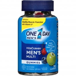 One A Day Men's VitaCraves Adult Multivitamin Gummies 70ct