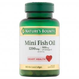 Natures Bounty Premium Strength Fish Oil Mini Softgels 90ct