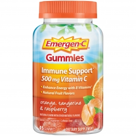 Emergen-C Gummies W/ 500mg Vitamin-C Orange, Tangerine & Raspberry - 45ct
