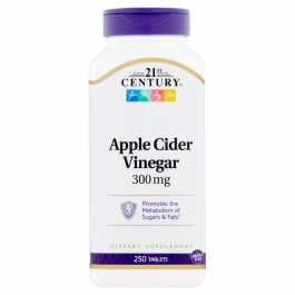 21st Century Apple Cider Vinegar 300mg Tablets - 250ct