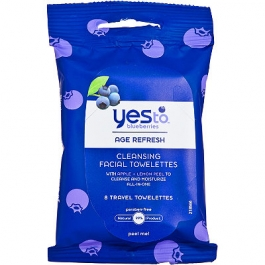 Yes to Blueberries Travel Cleansing Wipes - 8ct