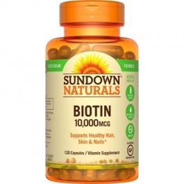 Sundown Naturals Vegetarian Biotin Capsules, 10,000mcg 120ct