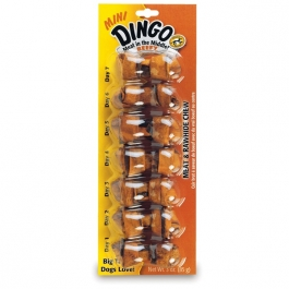 Dingo Beefy Mini Rawhide Chew Bones - 7ct
